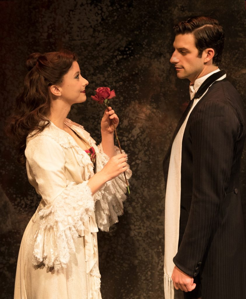 (From L) Katie Travis as Christine Daaé and Jordan Craig as Raoul in the Broadway Sacramento present