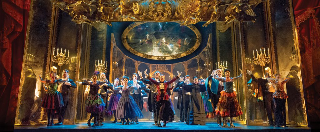 """The company of """"The Phantom of the Opera"""" presented by Broadway Sacramento May 17 – 28, 2017 at the"""