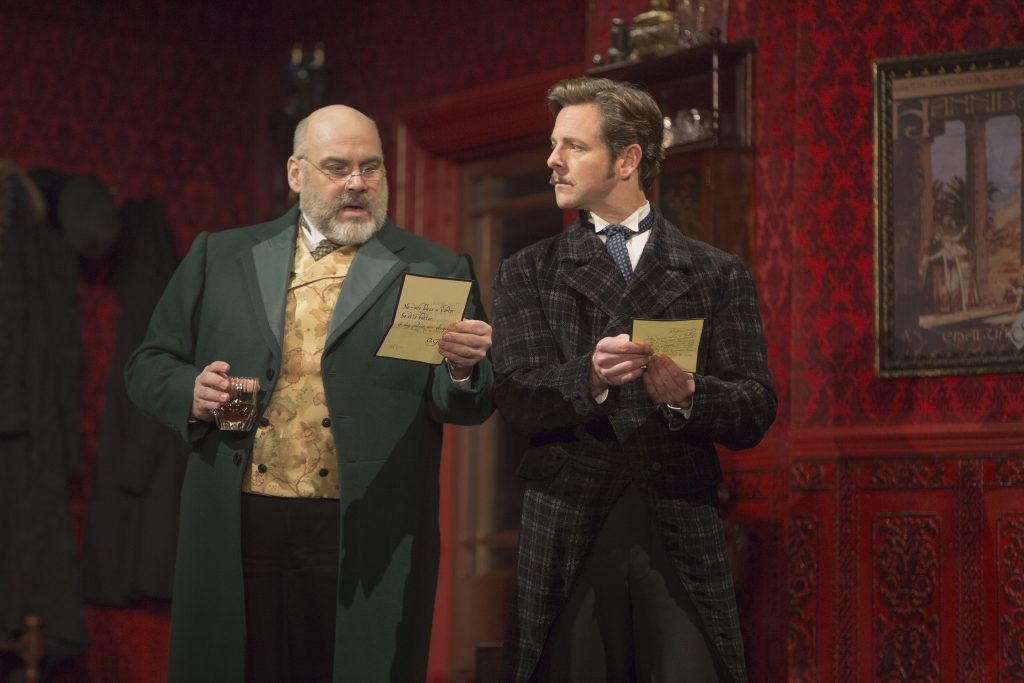 (From L) David Benoit as Monsieur Firmin and Edward Staudenmayer as Monsieur André in the Broadway S