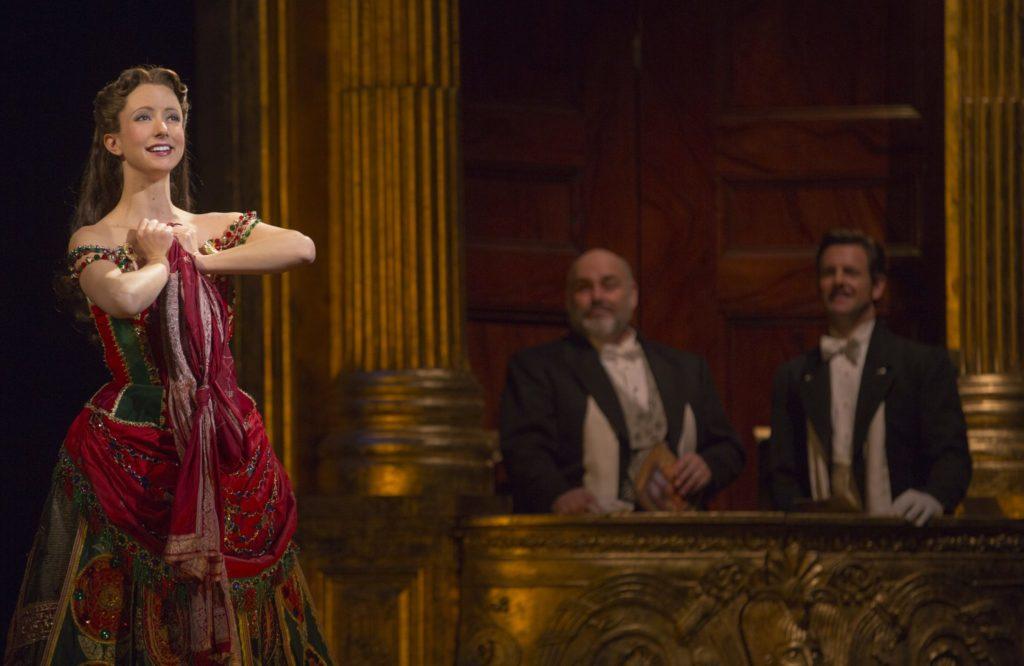 (From L) Katie Travis as Christine Daaé, David Benoit as Monsieur Firmin and Edward Staudenmayer as