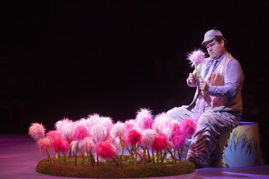 John Treacy Egan as Horton the Elephant in Seussical, produced by Music Circus at the Wells Fargo Pavilion in 2016. Photo by Charr Crail.