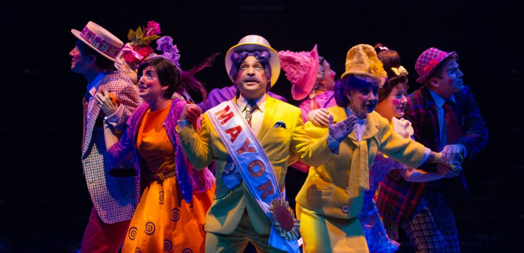 The company of Seussical, produced by Music Circus at the Wells Fargo Pavilion in 2016. Photo by Kevin Graft.