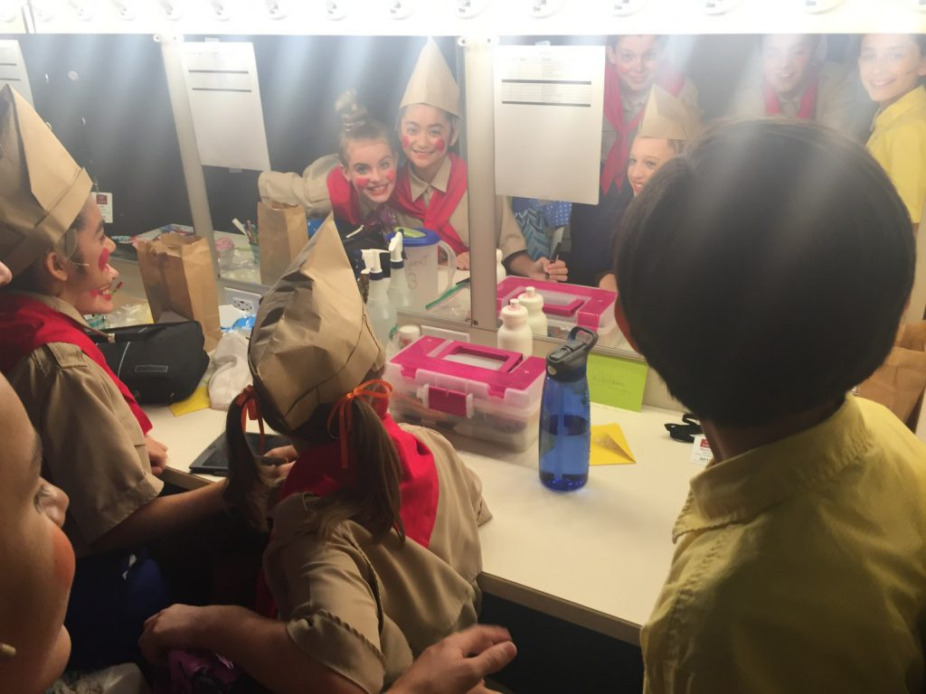 Backstage with the Music Circus 2016 Junior Company. Photo by Joanna Glum.