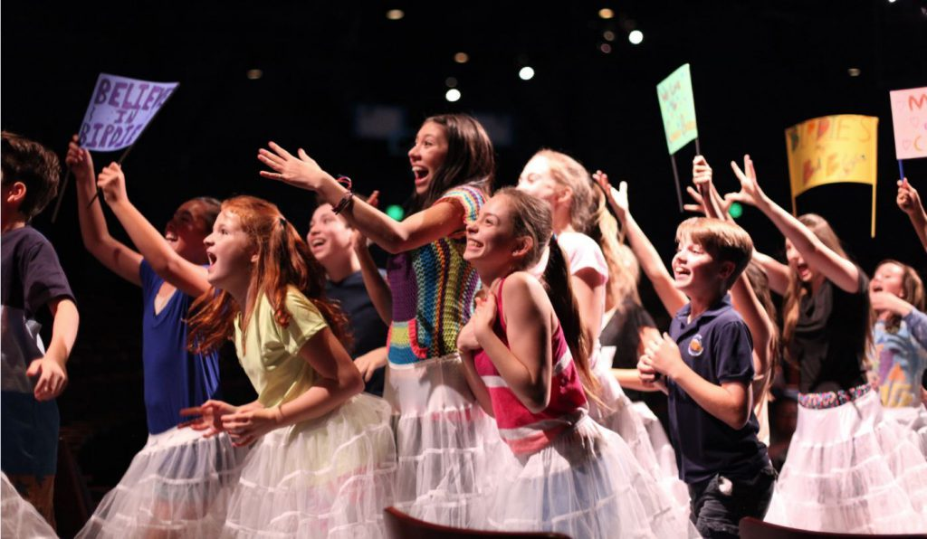 Junior Company members rehearse a scene during Bye Bye Birdie, summer 2015. Photo by Susan P. Miller
