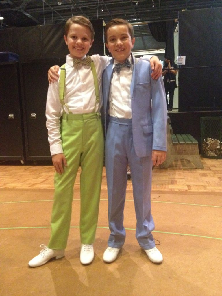 Junior Company members trying out costumes for Bye Bye Birdie, summer 2015. Photo by Susan P. Miller