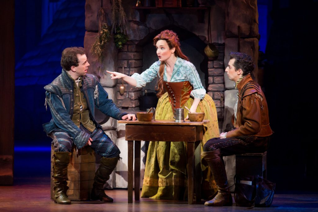 (L to R) Rob McClure, Maggie Lakis and Josh Grisetti in Something Rotten! presented by Broadway Sacr