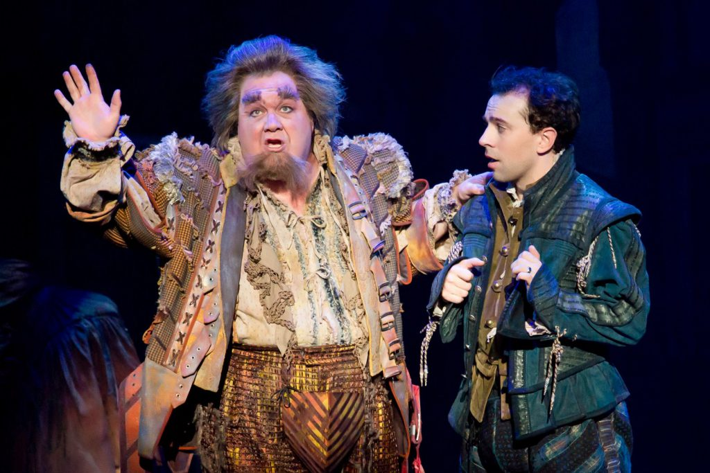 (L to R) Blake Hammond and Rob McClure in Something Rotten! presented by Broadway Sacramento at the