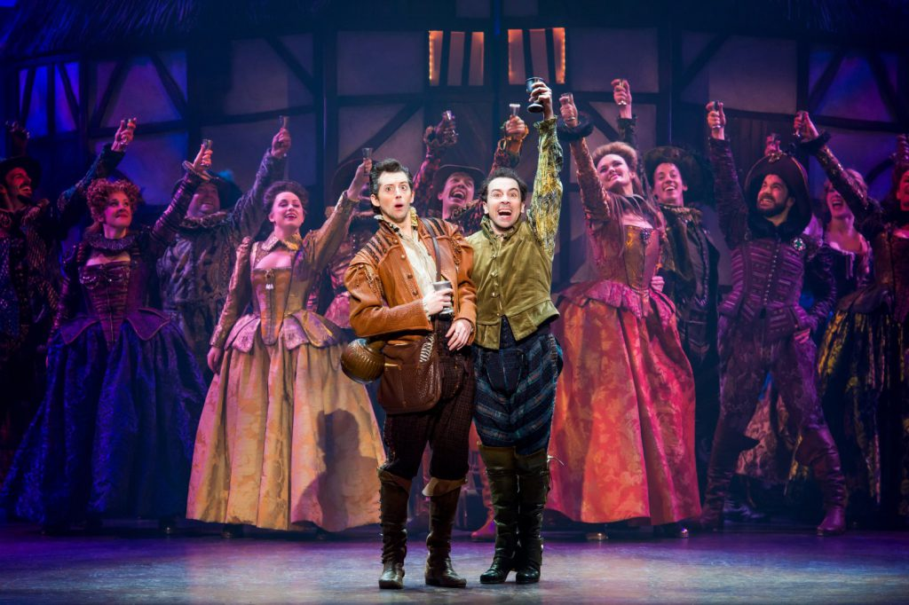 Cast of Something Rotten! presented by Broadway Sacramento at the Community Center Theater Jan 2 – 7
