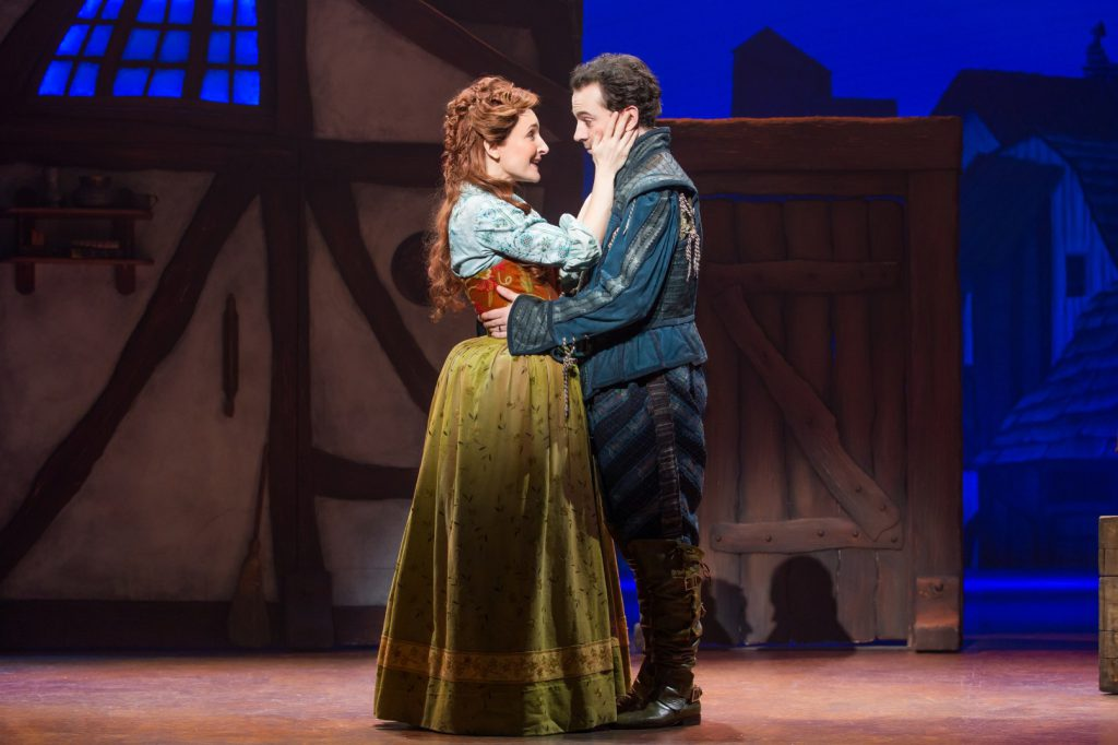 Maggie Lakis and Rob McClure in Something Rotten! presented by Broadway Sacramento at the Community