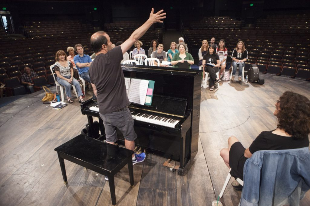 Song Form Workshop with Steven Lutvak, Composer and Lyricist of A Gentleman's Guide to love and Murder. September 2016. Photo by Charr Crail.