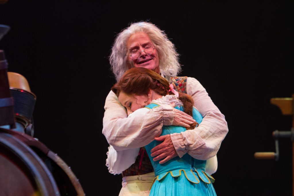 Gordon Goodman as Maurice and Jessica Grové as Belle in Disney's Beauty and the Beast, produced by M
