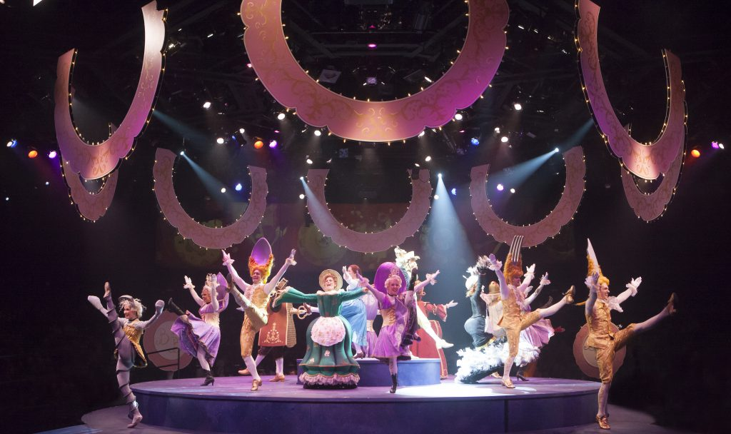 The company of Disney's Beauty and the Beast, produced by Music Circus at the Wells Fargo Pavilion J