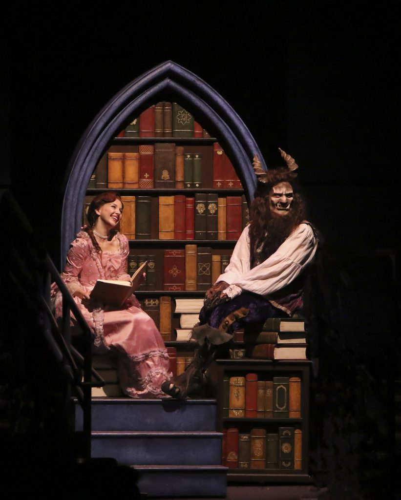 Jessica Grové as Belle and James Snyder as Beast in Disney's Beauty and the Beast, produced by Music