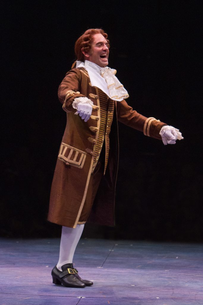 David Hibbard as Cogsworth in Disney's Beauty and the Beast, produced by Music Circus at the Wells F