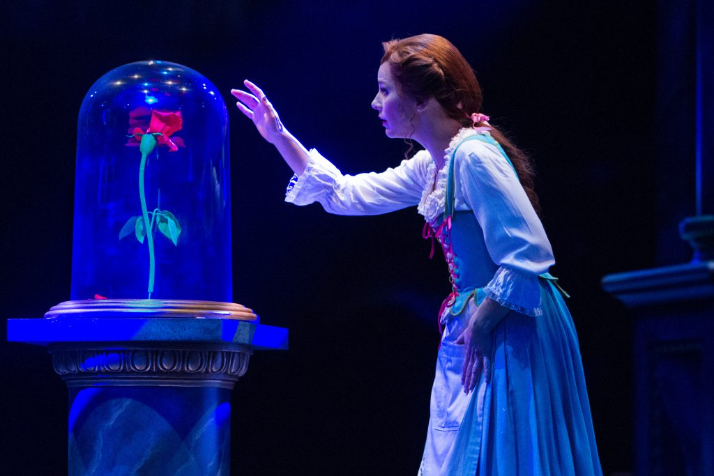 Jessica Grové as Belle in Disney's Beauty and the Beast, produced by Music Circus at the Wells Fargo Pavilion in 2017. Photo by Kevin Graft.