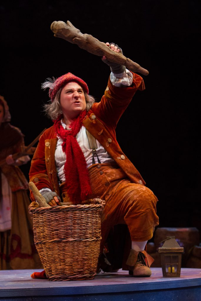 Jared Gertner as Le Fou in Disney's Beauty and the Beast, produced by Music Circus at the Wells Farg