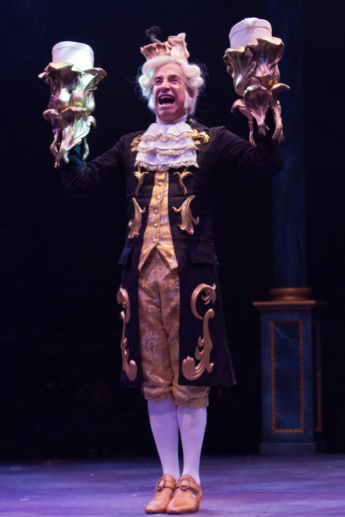 Michael Paternostro as Lumiere in Disney's Beauty and the Beast, produced by Music Circus at the Wel