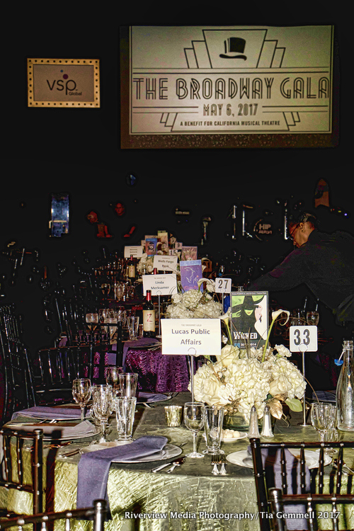The Tables at the 2017 Gala at Sacramento Memorial Auditorium