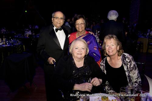 Front row: Sandy Smoley, Susan Sheridan. Back row: Indru & Pramila Kriplani