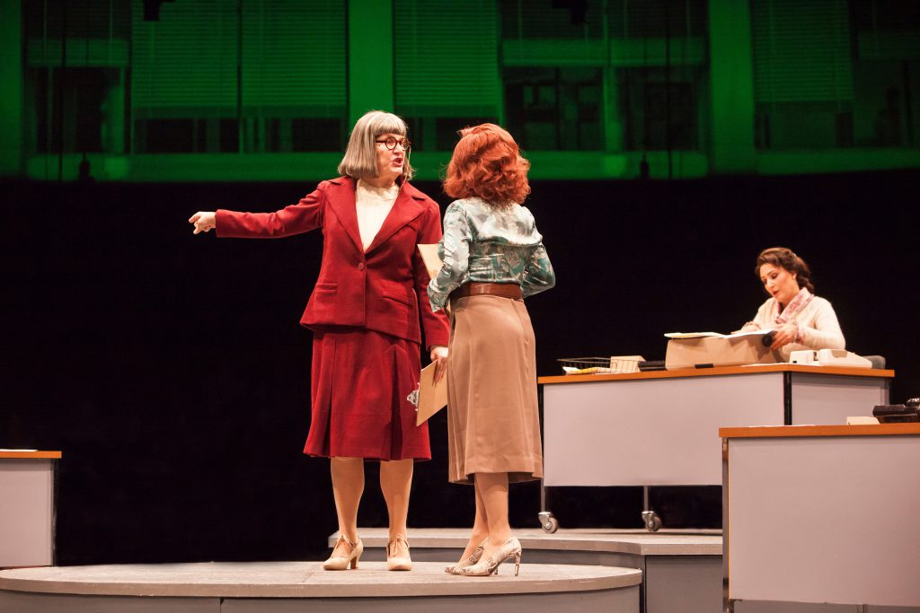 Kristine Zbornick as Roz Keith, Vicki Lewis as Violet Newstead and Anne Brummel as Judy Bernly in 9