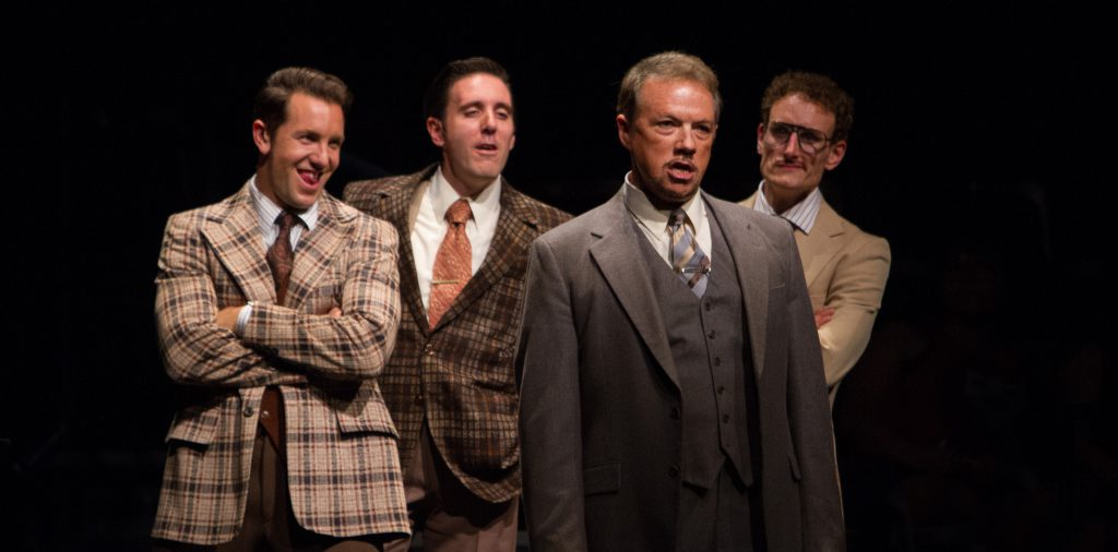 Paul Schoeffler as Franklin Hart Jr and company in 9 to 5, The Musical produced by Music Circus at t