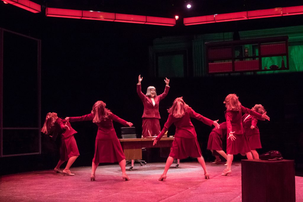 Kristine Zbornick as Roz Keith and company in 9 to 5, The Musical produced by Music Circus at the We