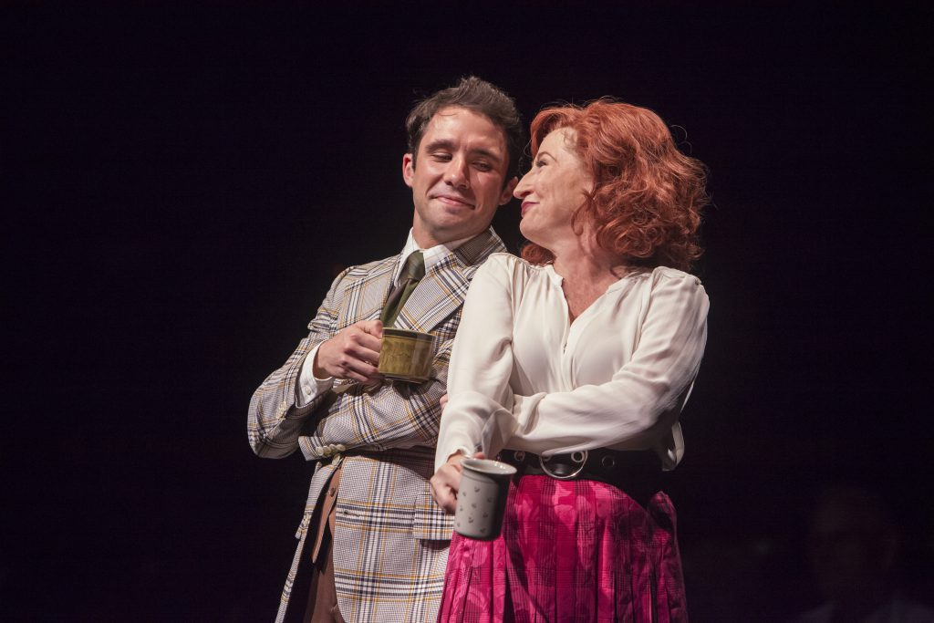 Dino Nicandros as Joe and Vicki Lewis as Violet Newstead in 9 to 5, The Musical produced by Music Ci
