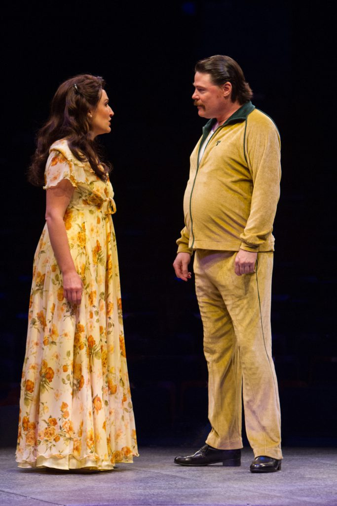 Anne Brummel as Judy Bernly and Michael Dotson as Dick in 9 to 5, The Musical produced by Music Circ