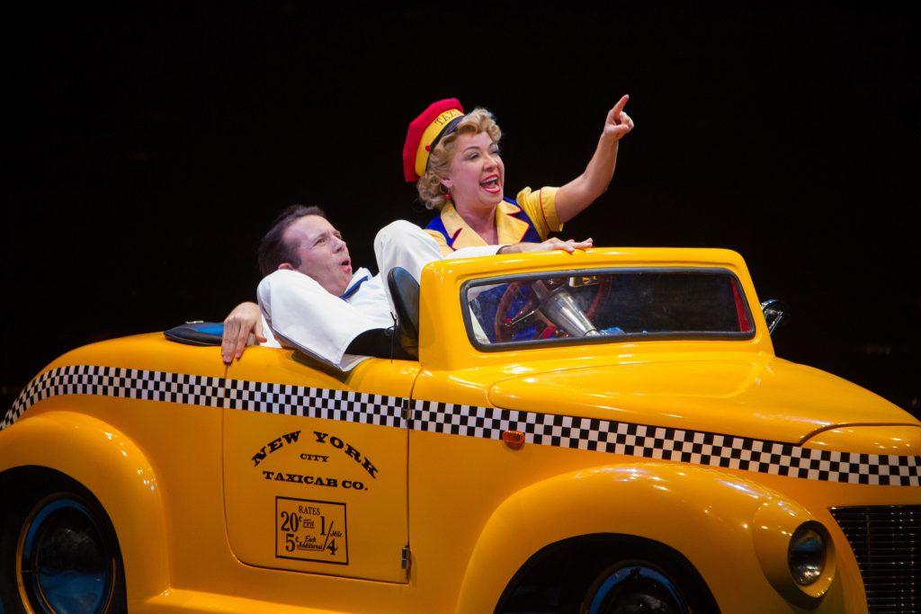 Matt Loehr as Chip and Jennifer Cody as Hildy Esterhazy in On the Town, produced by Music Circus at