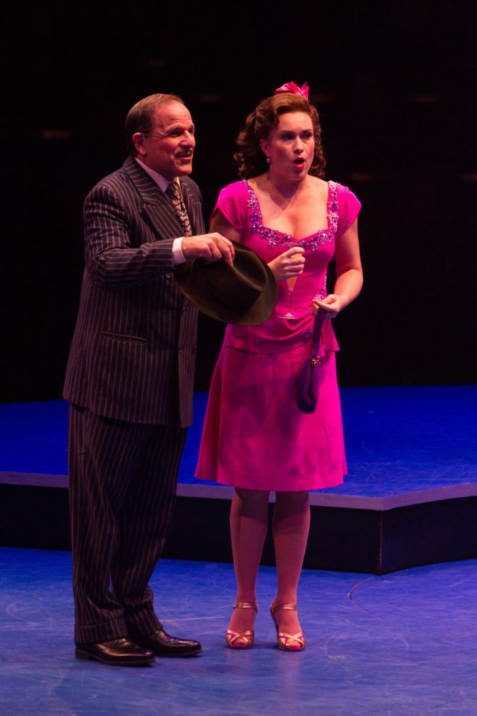 Donald Corren as Judge Pitkin W. Bridgework and Holly Ann Butler as Claire De Loone in On the Town,