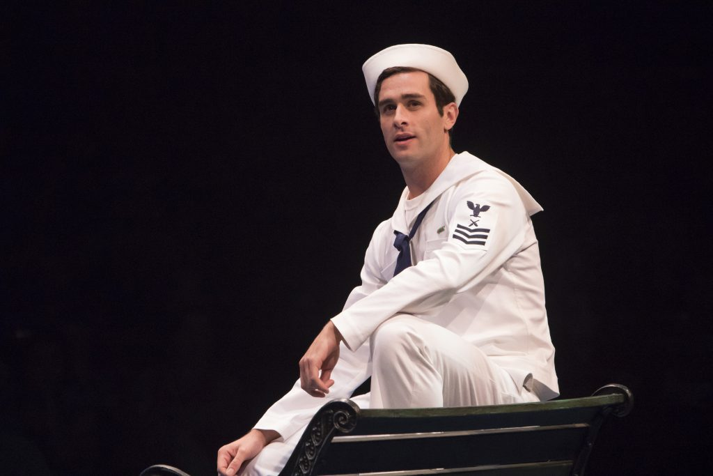 Sam Lips as Gabey in On the Town, produced by Music Circus at the Wells Fargo Pavilion July 11 - 16.