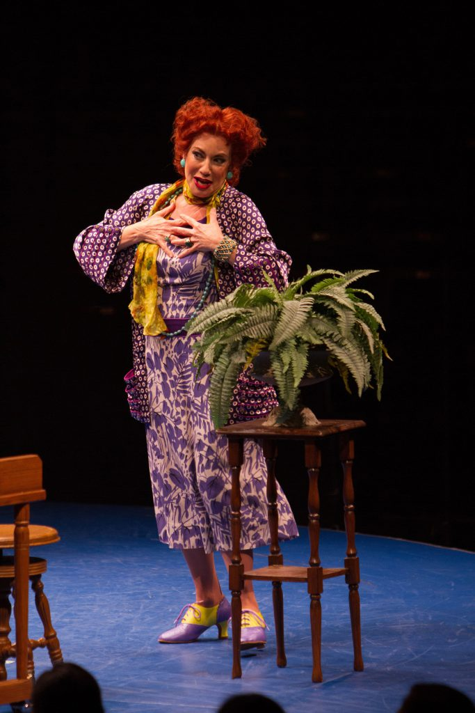 Susan Cella as Madame Maude P. Dilly in On the Town, produced by Music Circus at the Wells Fargo Pav