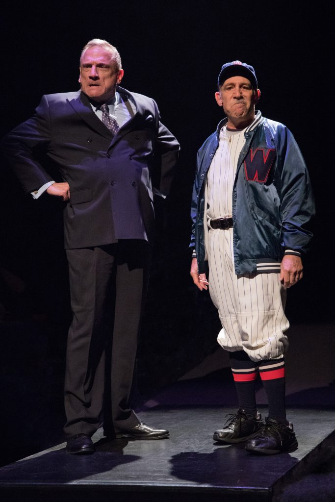 Ron Wisniski as Welch and Stephen Berger as Van Buren in Damn Yankees produced by Music Circus at th