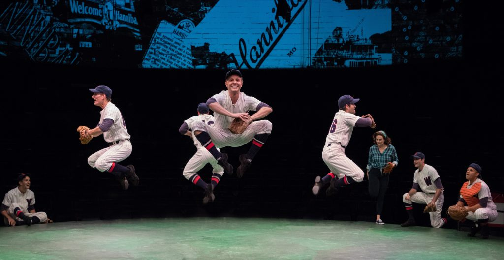 The company of Damn Yankees produced by Music Circus at the Wells Fargo Pavilion August 8 – 13. Phot