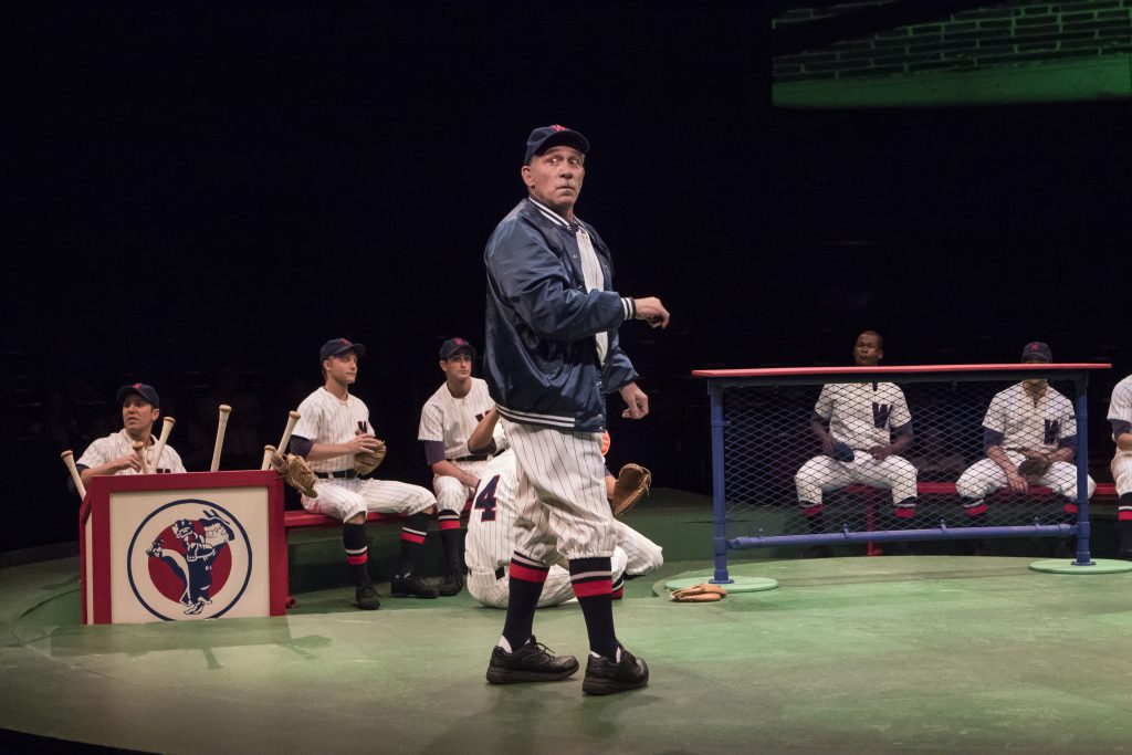 Stephen Berger as Van Buren in Damn Yankees produced by Music Circus at the Wells Fargo Pavilion Aug