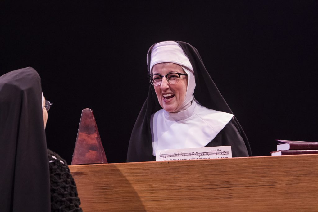 Audrie Neenan as Mary Lazarus in Sister Act produced by Music Circus at the Wells Fargo Pavilion Aug