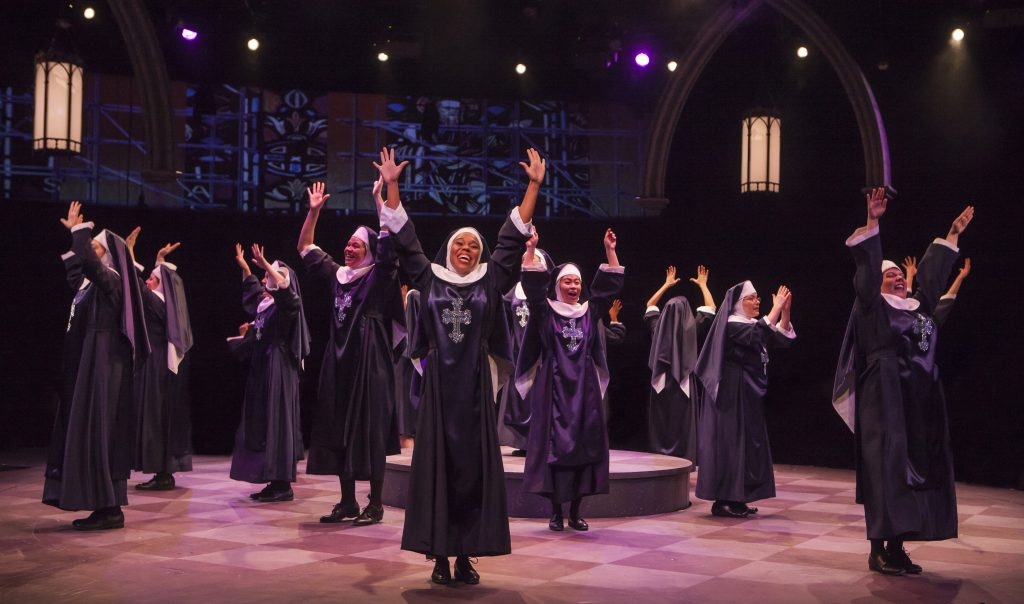 The company of Sister Act produced by Music Circus at the Wells Fargo Pavilion August 22 - 27. Photo