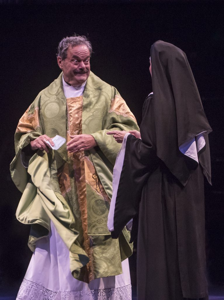 Bill Nolte as Monsignor O'Hara in Sister Act produced by Music Circus at the Wells Fargo Pavilion Au