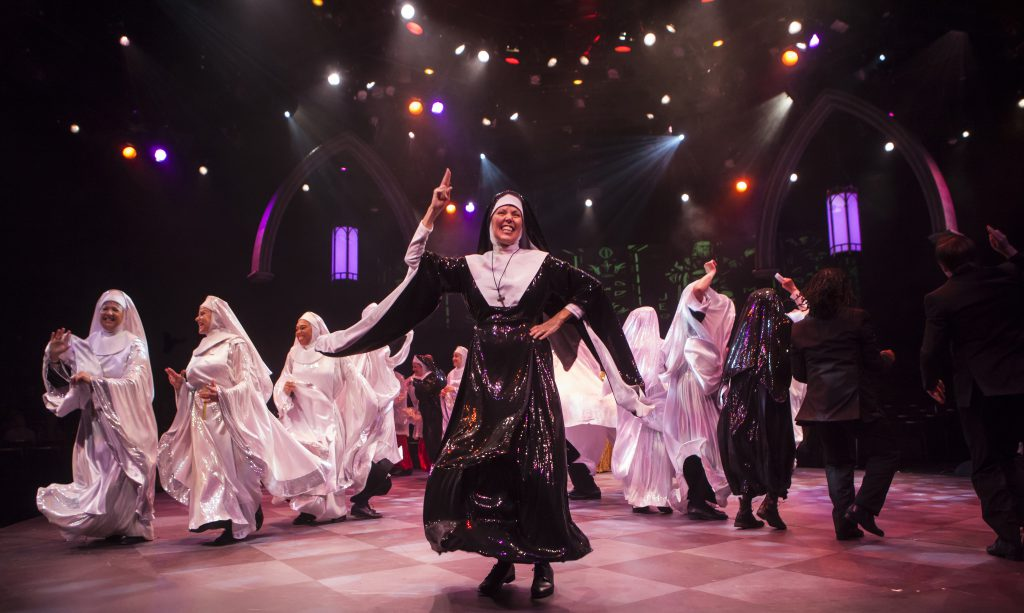 Zonya Love as Deloris Van Cartier in Sister Act produced by Music Circus at the Wells Fargo Pavilion