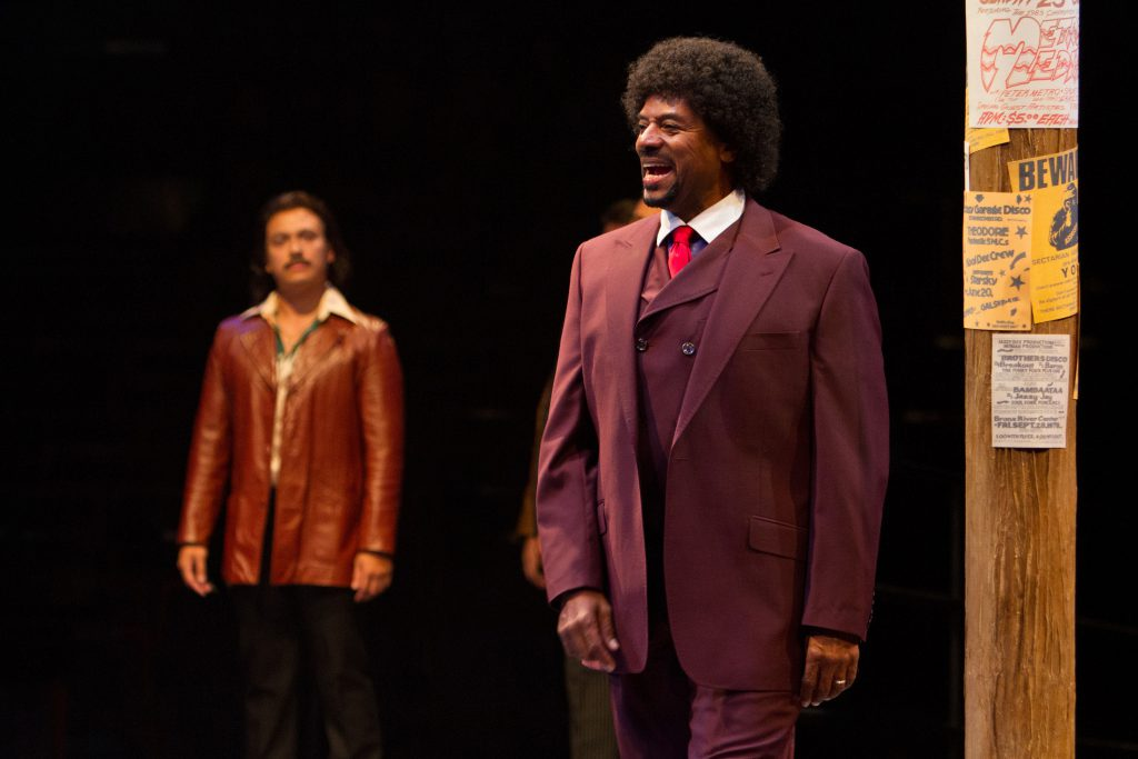 Rufus Bonds, Jr. as Curtis Jackson in Sister Act produced by Music Circus at the Wells Fargo Pavilio