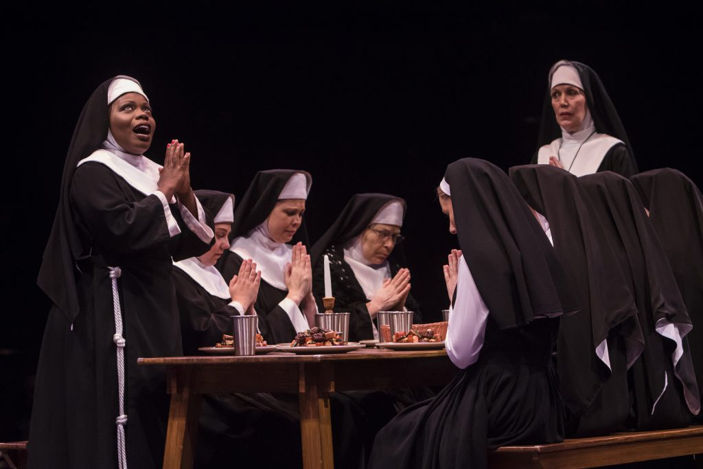 Zonya Love as Deloris Van Cartier, Lynne Wintersteller as Mother Superior and the company of Sister