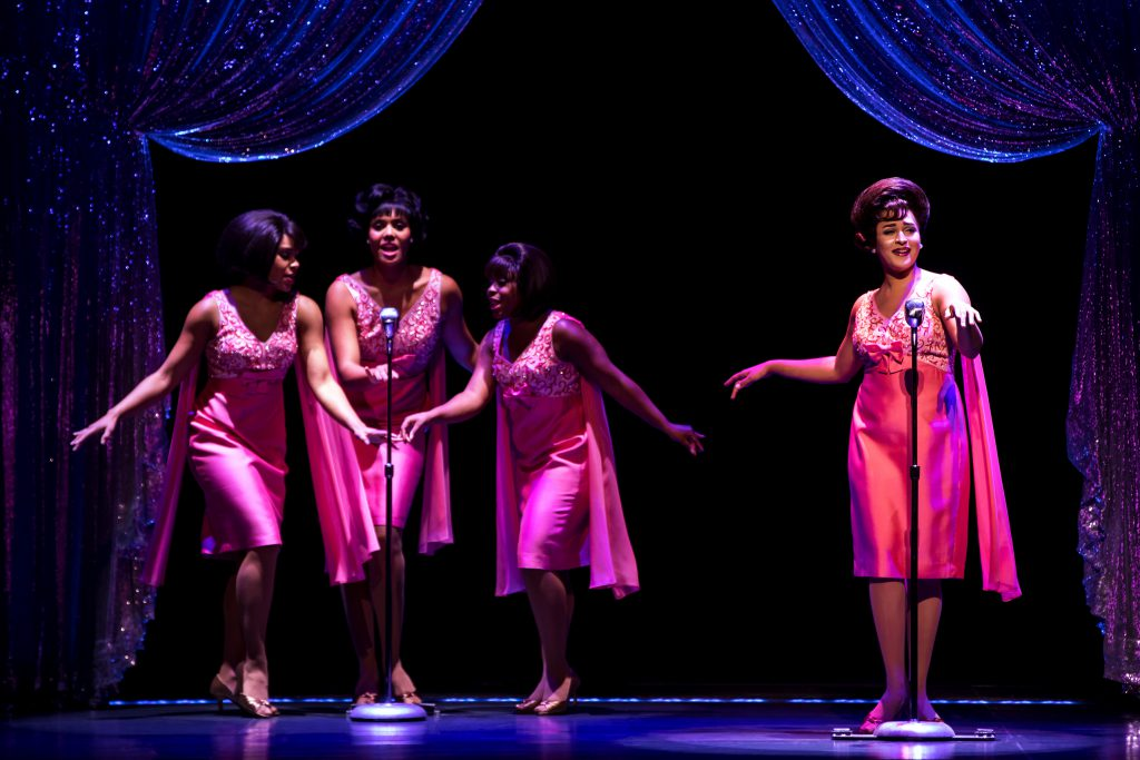 (L to R) Traci Elaine Lee, McKynleigh Alden Abraham, Alexis Tidwell and Ximone Rose as the Shirelles