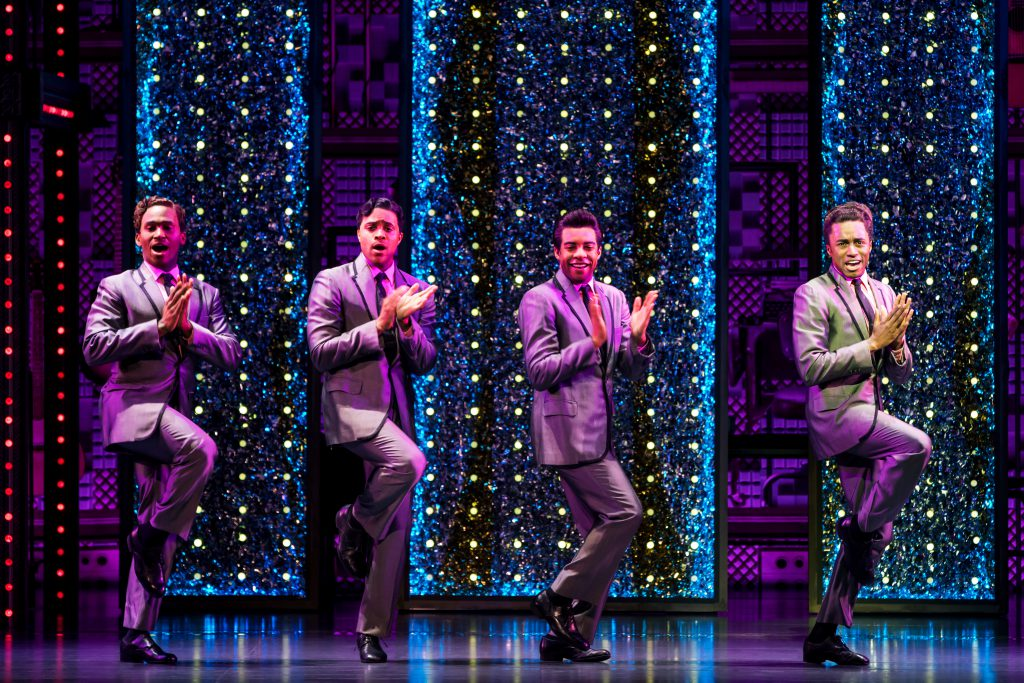 (L to R) Kristopher Stanley Ward, Josh A. Dawson, Avery Smith and Jay McKenzie as the Drifters in th