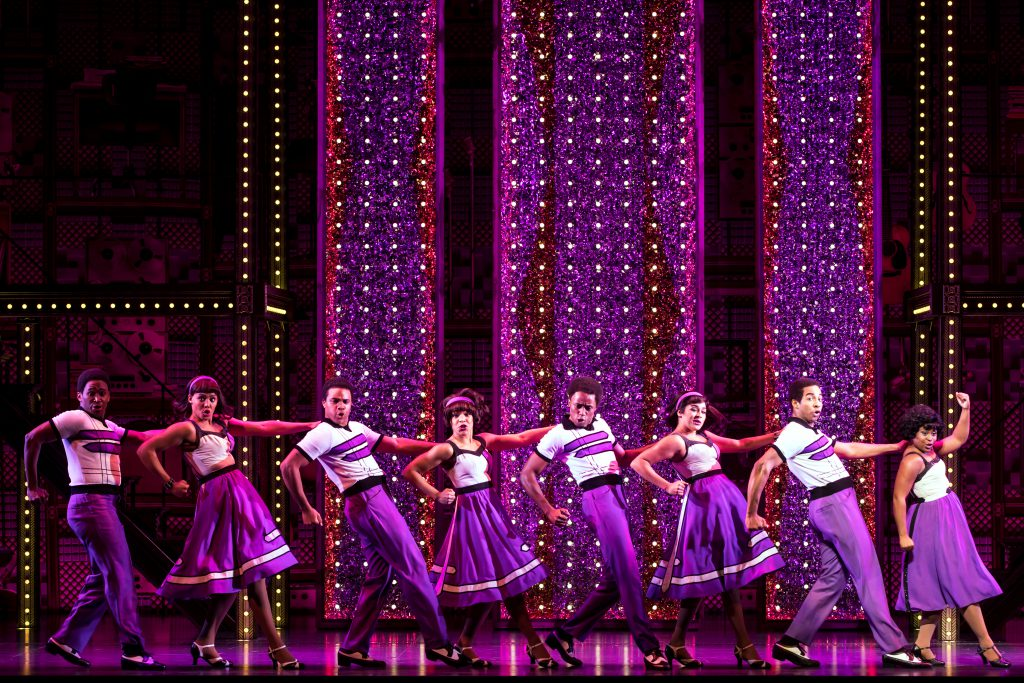 """The company of """"Beautiful – The Carole King Musical"""" presented by Broadway Sacramento at the Communi"""