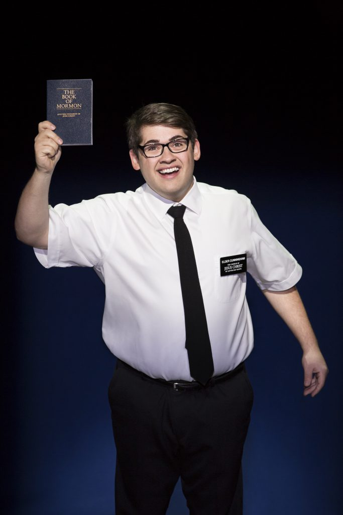 """Conner Peirson in the Broadway Sacramento presentation of """"The Book of Mormon"""" at the Community Cent"""