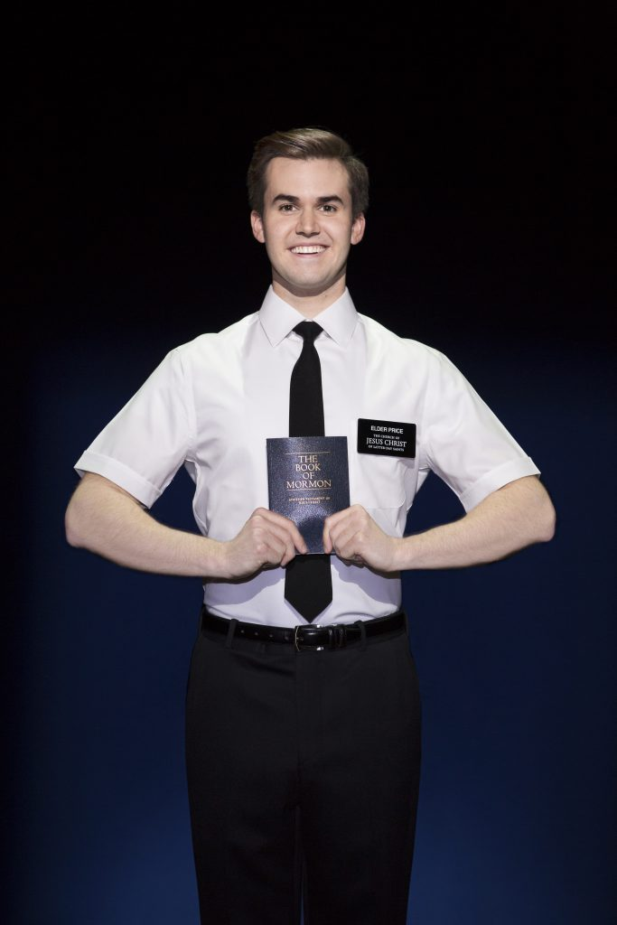 """Kevin Clay in the Broadway Sacramento presentation of """"The Book of Mormon"""" at the Community Center T"""