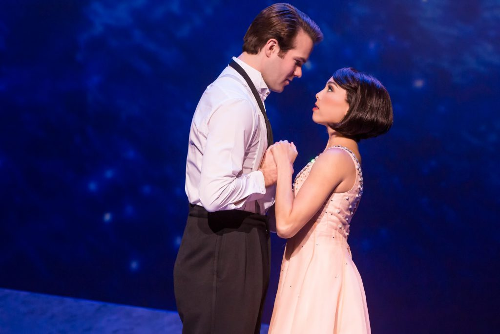 "Allison Walsh and McGee Maddox in ""An American in Paris"" presented by Broadway Sacramento at the Com"