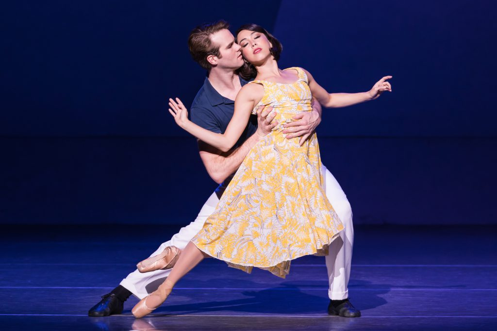 "McGee Maddox and Allison Walsh in ""An American in Paris"" presented by Broadway Sacramento at the Com"