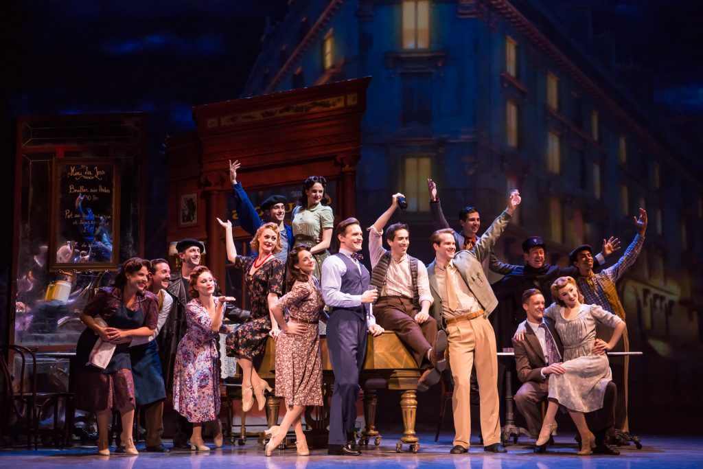 "The company of ""An American in Paris"" presented by Broadway Sacramento at the Community Center Theat"