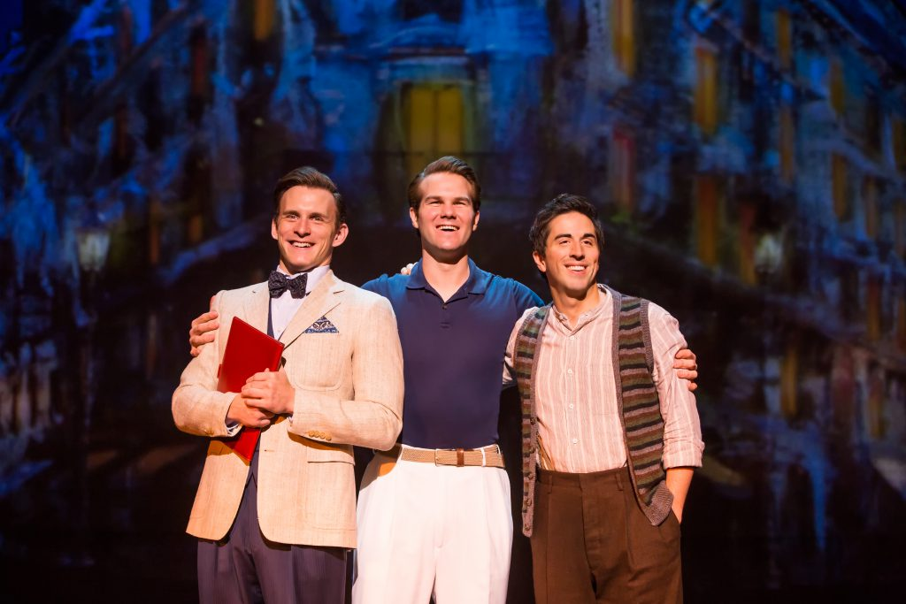 "Ben Michael, McGee Maddox and Matthew Scott in ""An American in Paris"" presented by Broadway Sacramen"